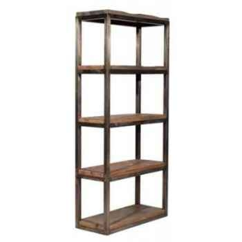 Bibliothèque en bois recyclé et fer h 2000 x 900 x 400 arteinmotion LIB-LEG0017
