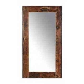 Miroir rectangulaire en bois recyclé h 2450 x 1350 x 50 arteinmotion COM-SPE0093