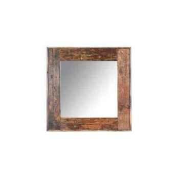 Miroir rectangulaire en bois recyclé h 1350 x 1350 x 50 arteinmotion COM-SPE0092