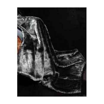 Couverture silver bear en fourrure synthétique couleur ours argenté 2500 x 2400 arteinmotion COP-BEA0003