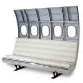 canape fuselage b737 poli 5 fenetres arteinmotion air div0099