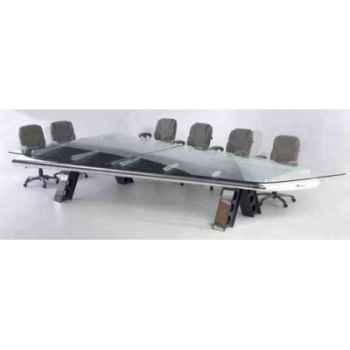 Table b-727 poli et plaque verre Arteinmotion AIR-TAV0027