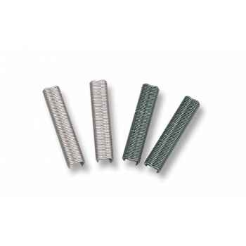 Agrafes 20mm plastifiées vert blister 150  Intermas 147169