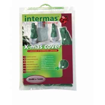 X-mas cover ( 2 housses ludiques  50gr/m² vert) Intermas 110039