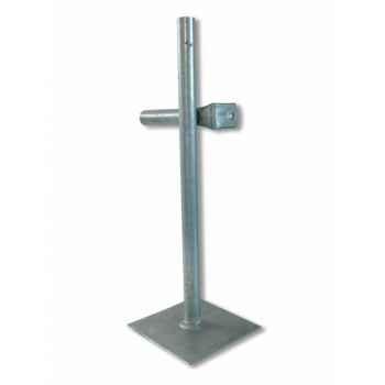 4 pieds platine tube 30mm Intermas 160612