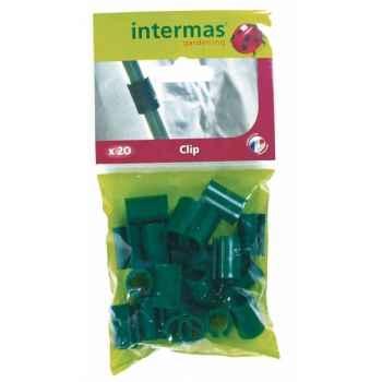 20 clips pour arceaux Intermas 140505