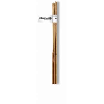 Tuteur bambou naturel par 4 gencodé Intermas 140832