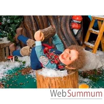 Automate - garçon elfe balançant ses jambes Automate Décoration Noël 662
