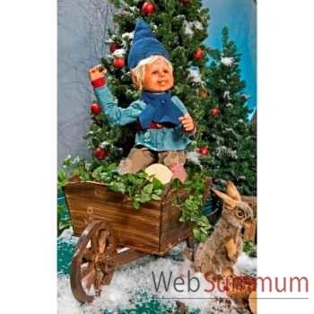 Automate - garçon elfe assis, saluant Automate Décoration Noël 663