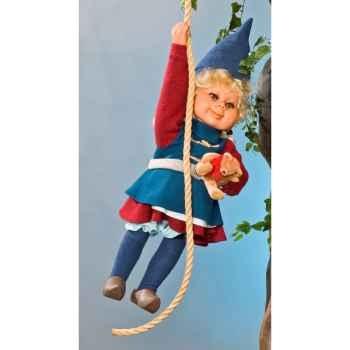Automate - fillette elfe suspendue Automate Décoration Noël 664