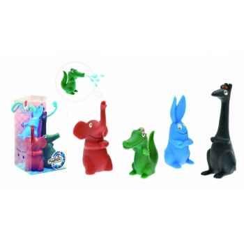 Figurine set n° 5 = 4 pièces barbapapa les animaux  Plastoy 80505