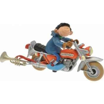 Figurine gaston moto  Plastoy 00305