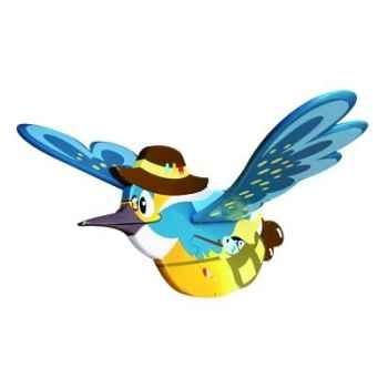 Mobile volant eugène le martin pécheur Le coin des enfants 20522