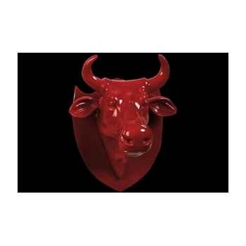 Figurine Trophée vache kuhkopf red 25cm Art in the City 80991