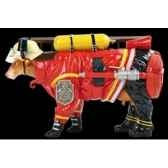 figurine vache firefighter 32cm art in the city 80646