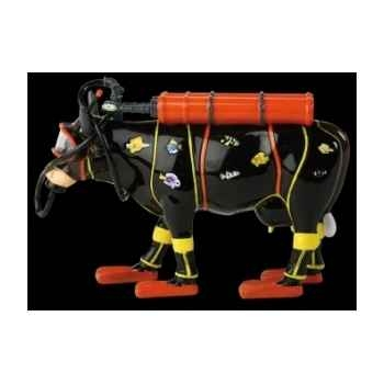 Figurine Vache zenzi - the scuba diver 15cm Art in the City 80833