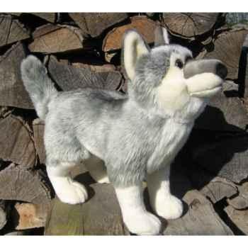Peluche loup gris 40cm (long)  Ushuaia Junior 705