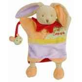 peluche marionnette paulin le lapin doudou et compagnie dc1608