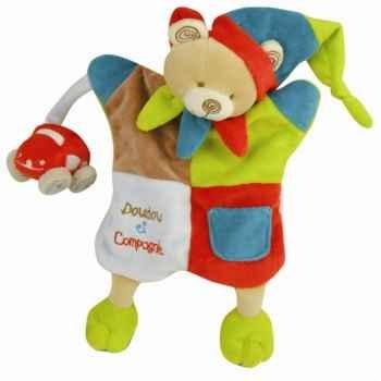Peluche marionnette - mirou l\'ours doudou et compagnie dc1609