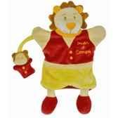 peluche marionnette leon le lion doudou et compagnie dc1612