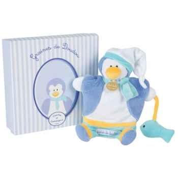 Peluche graines de doudou - pingouin marionnette  doudou et compagnie dc2194