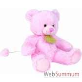 boite a musique ours rose doudou et compagnie dc2232