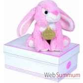 boite a musique lapin rose doudou et compagnie dc2235