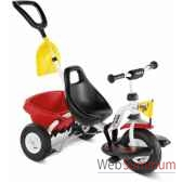 tricycle 2 ans cat 1 srouge blanc puky 2349