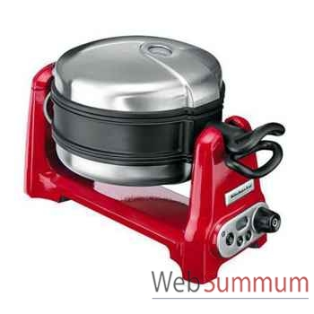 Kitchenaid gaufrier 1200 w rouge - artisan -000643