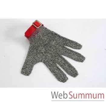 Manulatex gant cotte de maille n°8 rouge -050151