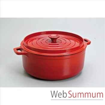 Invicta cocotte mijoteuse en fonte ronde 28 cm - coloris rubis -316805