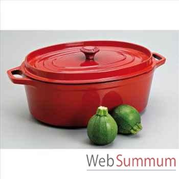 Invicta cocotte mijoteuse en fonte ovale 35 cm - coloris rubis -316828