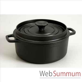 Invicta cocotte mijoteuse en fonte ronde 26 cm - coloris noir -316903