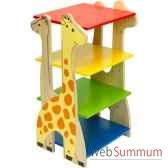 etagere girafe en bois pour enfants voila s024a