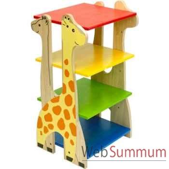 Etagère girafe en bois pour enfants Voila - S024A