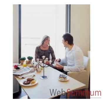 2 Chandeliers de table Tulip finition acier brillant Aristo - 825240
