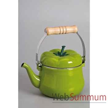 Jour de marche bouilloire émail 1.5 l poivron vert -000291