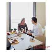 2 chandeliers de table tulip finition cuivre aristo 824240