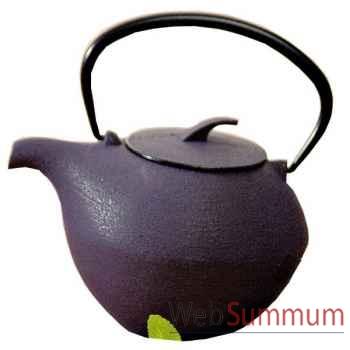 Jour de marche théière fonte boule violette 0,8 l -000307