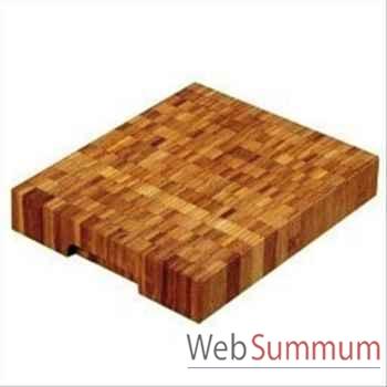 Planche billot bambou 30 x 25 x 5 cm -000318