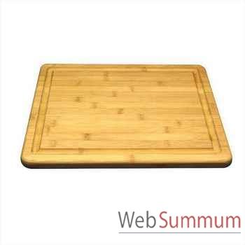 Planche à découper à rigole bambou -000323