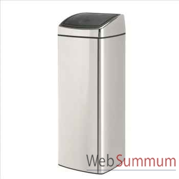 Brabantia poubelle touch bin 25 l rectangulaire brillant steel -000557