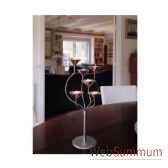 2 chandeliers de table royafinition cuivre aristo 824201