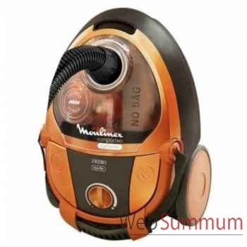Moulinex aspirateur sans sac compacteo orange -000759