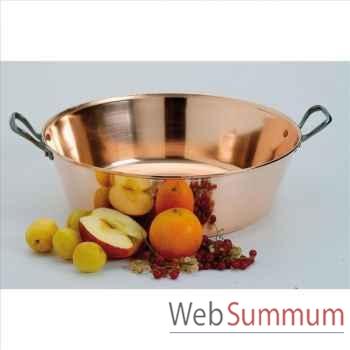 Baumalu bassine à confiture en cuivre lisse 40 cm -000840