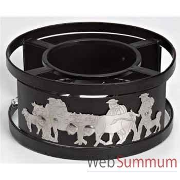 Schwarz réchaud inox - vache -001562