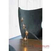 2 chandeliers de table tulip finition acier brillant aristo 825245