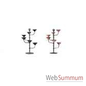 2 chandeliers de table spirafinition antique aristo 823260