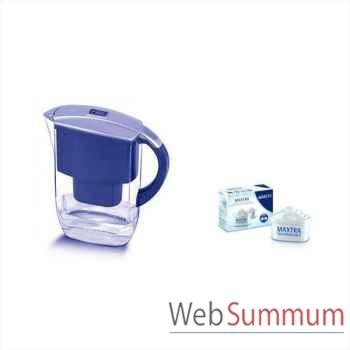 Brita carafe 2l6 bleu - fyord cool + 2  cartouches offert -002268