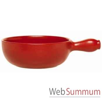Emile henry caquelon 24 cm rouge - flame -002398